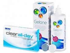 Clear All-Day (6lēcas) +GeloneŠķīdums 360ml