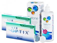 Air Optix for Astigmatism (2x3lēcas) +Gelonešķīdums 360ml