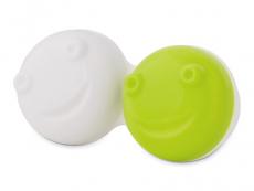Lēcu kastīte vibrējošajam kontaktlēcu konteinerītim – zaļā