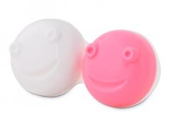 Lēcu kastīte vibrējošajam kontaktlēcu konteinerītim - rozā