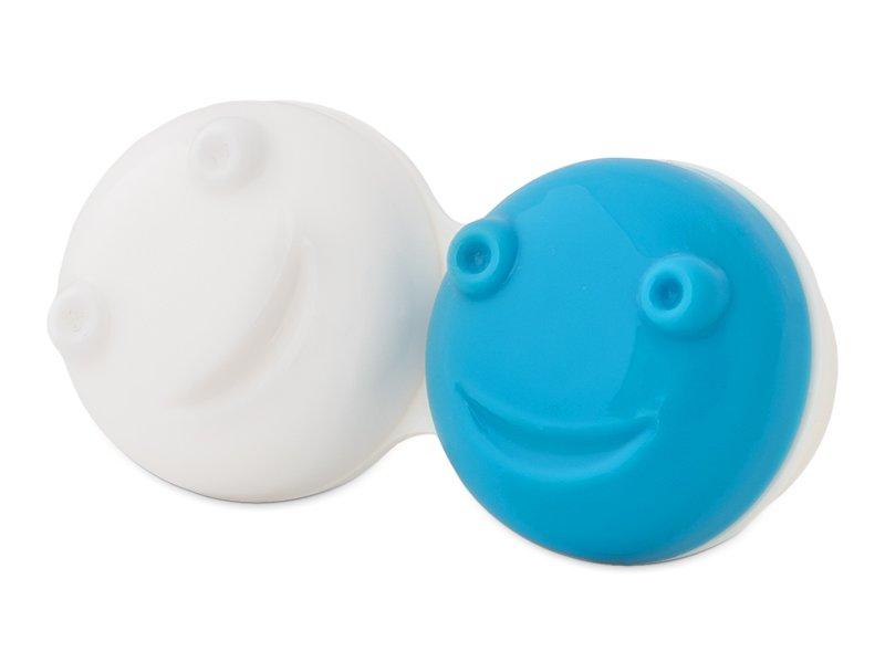 Lēcu kastīte vibrējošajam kontaktlēcu konteinerītim - zilā