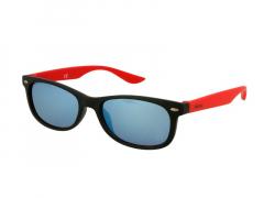 Bērnu saulesbrilles Alensa Sport Melnas Sarkans Spogulis