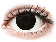 ColourVUE Crazy Lens - BlackOut - bez dioptrijas (2 lēcas)