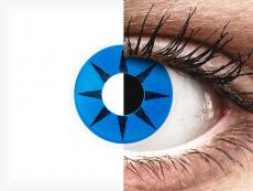 ColourVUE Crazy Lens - Blue Star - bez dioptrijas (2 lēcas)