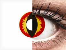 ColourVUE Crazy Lens - Dragon Eyes - bez dioptrijas (2 lēcas)