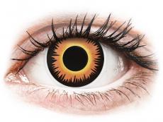 ColourVUE Crazy Lens - Orange Werewolf - bez dioptrijas (2 lēcas)