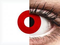 ColourVUE Crazy Lens - Red Devil - bez dioptrijas (2 lēcas)
