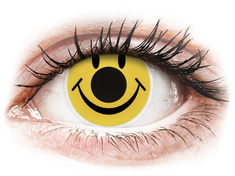 ColourVUE Crazy Lens - Smiley - bez dioptrijas (2 lēcas)