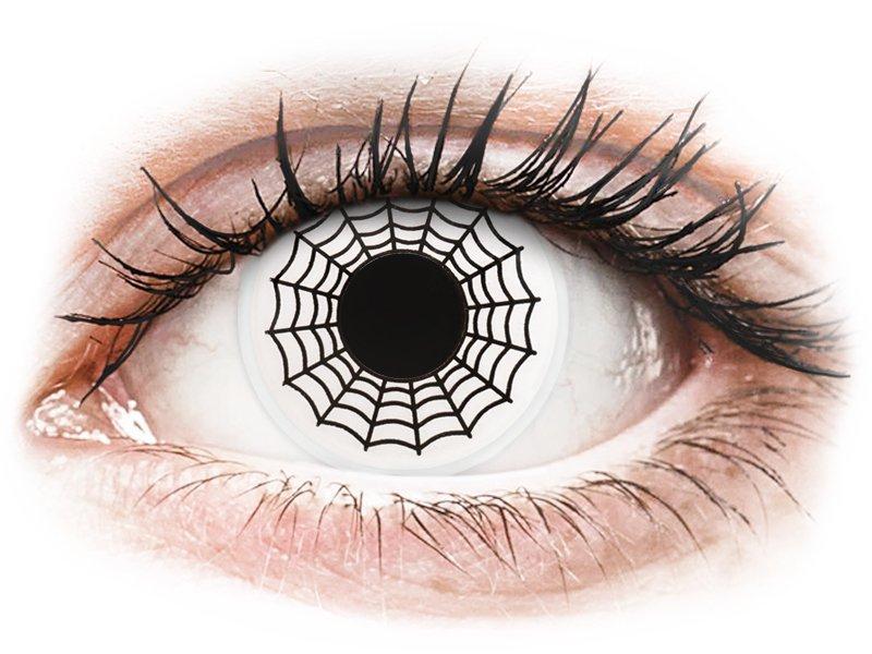 ColourVUE Crazy Lens - Spider - bez dioptrijas (2 lēcas)