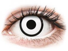 ColourVUE Crazy Lens - White Zombie - bez dioptrijas (2 lēcas)