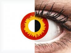 ColourVUE Crazy Lens - Wildfire - bez dioptrijas (2 lēcas)