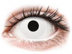 ColourVUE Crazy Lens - WhiteOut - bez dioptrijas (2 lēcas)