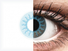 ColourVUE Crazy Lens - Solar Blue - ar dioptriju (2 lēcas)