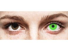 ColourVUE Crazy Glow Green - bez dioptrijas (2lēcas)