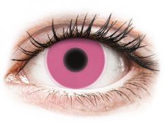 ColourVUE Crazy Glow Pink - bez dioptrijas (2lēcas)