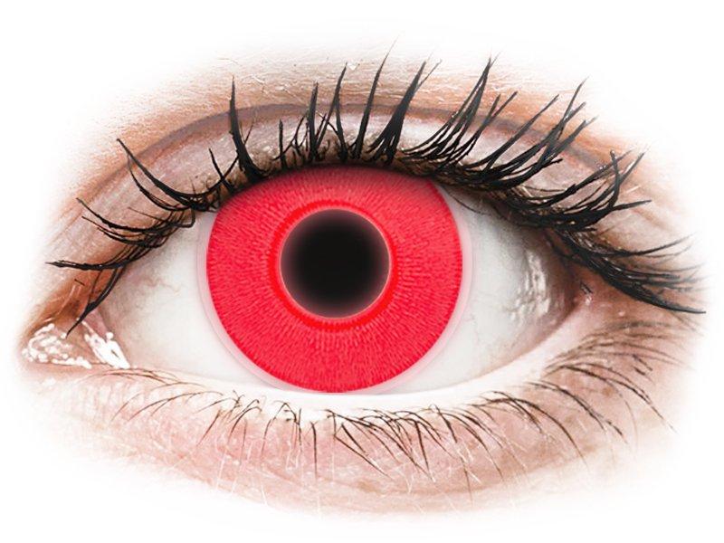ColourVUE Crazy Glow Red - bez dioptrijas (2lēcas)
