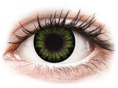 ColourVUE BigEyes Party Green - bez dioptrijas (2lēcas)