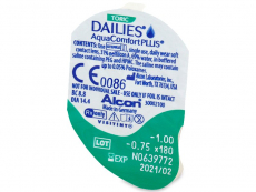 Dailies AquaComfort Plus Toric (30lēcas)