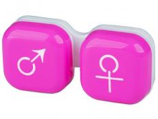 Lēcu konteineris Vīrietis& Sieviete- rozā