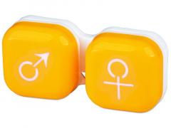 Lēcu konteineris Vīrietis& Sieviete- dzeltens