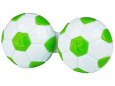 Kontaktlēcu konteineris - Football zaļā krāsā
