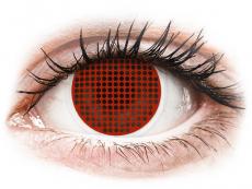 ColourVUE Crazy Lens - Red Screen - bez dioptrijas (2 lēcas)