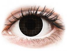 ColourVUE Crazy Lens - Black Screen - bez dioptrijas (2 lēcas)