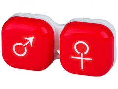 Lēcu konteineris Vīrietis& Sieviete- sarkans