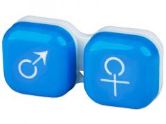 Lēcu konteineris Vīrietis& Sieviete- zils