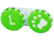 Lēcu konteineris- Paw zaļā krāsā
