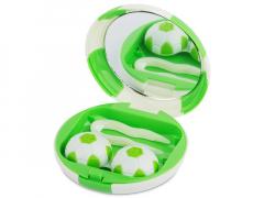 Lēcu futlāris ar spoguli Football- zaļš