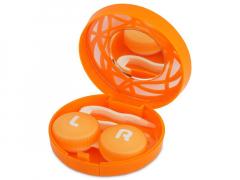 Lēcu futlāris ar spoguli - oranžs ornaments