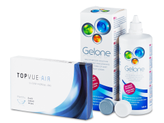 TopVue Air (6 kontaktlēcas) +GeloneŠķīdums 360ml