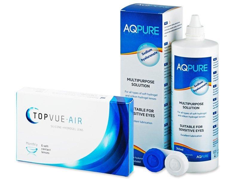 TopVue Air (6 kontaktlēcas) +AQPureŠķīdums 360ml