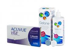 Acuvue Vita (6 lēcas) + Gelone Šķīdums 360 ml