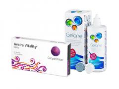 Avaira Vitality Toric (3 lēcas) + Gelone Šķīdums 360 ml