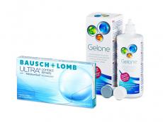 Bausch + Lomb ULTRA (3 lēcas) + Gelone Šķīdums 360 ml