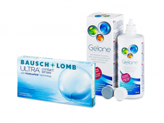 Bausch + Lomb ULTRA (6 lēcas) + Gelone Šķīdums 360 ml