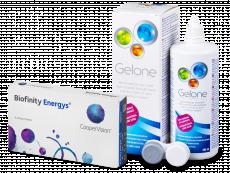 Biofinity Energys (3 lēcas) + Gelone Šķīdums 360 ml