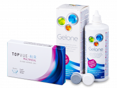 TopVue Air Multifocal (3 kontaktlēcas) + Gelone Šķīdums 360 ml