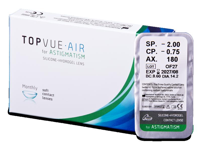 TopVue Air for Astigmatism (1lēca)
