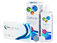 TopVue Monthly Plus (6 kontaktlēcas) +GeloneŠķīdums 360ml