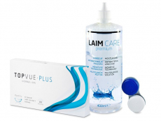 TopVue Monthly Plus (6 kontaktlēcas) + LAIM-CAREŠķīdums 400ml