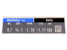 Biofinity Toric (3lēcas)