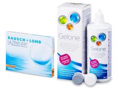 Bausch + Lomb ULTRA for Astigmatism(3 lēcas) + Gelone Šķīdums 360 ml