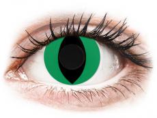 CRAZY LENS - Cat Eye Green - dienas bez dioptrijas (2 lēcas)