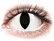 CRAZY LENS - Cat Eye White - dienas bez dioptrijas (2 lēcas)