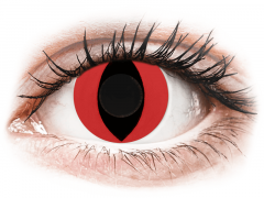 CRAZY LENS - Cat Eye Red - dienas bez dioptrijas (2 lēcas)