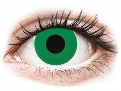 CRAZY LENS - Emerald Green - dienas ar dioptriju (2 lēcas)