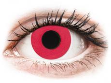CRAZY LENS - Solid Red - dienas bez dioptrijas (2 lēcas)